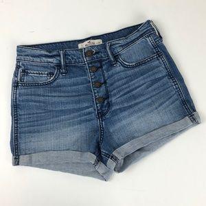Hollister high waisted roll cuff denim shorts